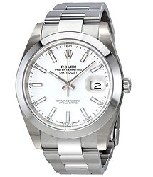 Rolex Oyster Perpetual Datejust White Dial Automatic Men's Watch
