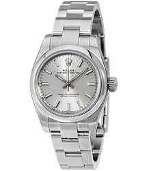 Rolex Oyster Perpetual Silver Dial Stainless Steel Ladies Watch