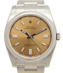 Rolex Oyster Perpetual Stainless Steel Brown Automatic 116000BRONZE