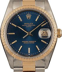 Rolex Perpetual 34 mm Steel and Yellow Gold