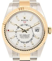 Rolex Sky-dweller 18kt Gold & Steel White Automatic 326933WT