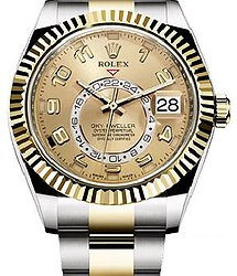 Rolex Sky-Dweller 42 mm Steel and Yellow Gold 326933