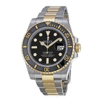 Купить часы Rolex Submariner Black Dial Stainless Steel and 18K Yellow Gold Oyster Bracelet Automatic Men's Watch 116613BKSO  в ломбарде швейцарских часов