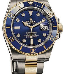 Rolex Submariner Date 40mm Steel and Yellow Gold Ceramic 8 diamond