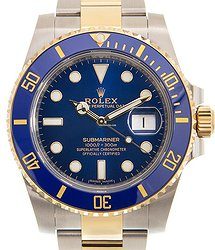 Rolex Submariner(date) 18kt Gold & Steel Blue Automatic 116613LB