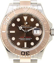 Rolex Yacht Master 18kt Rose Gold & Steel Brown Automatic 116621BR_O