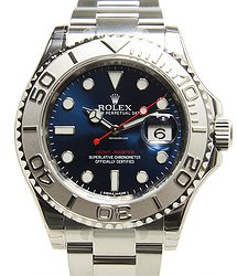 Rolex Yacht Master 18kt White Gold & Steel Blue Automatic 116622BL