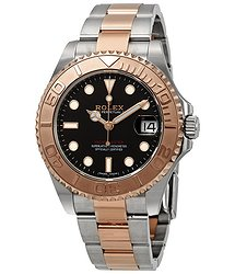 Rolex Yacht-Master 37 Automatic Black Dial Ladies Steel and 18K Everose Gold Oyster Watch
