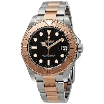 Купить часы Rolex Yacht-Master 37 Automatic Black Dial Ladies Steel and 18K Everose Gold Oyster Watch  в ломбарде швейцарских часов