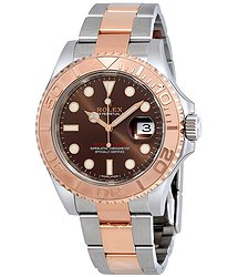Rolex Yacht-Master Chocolate Dial Steel and 18K Everose Gold Oyster Men's Watch