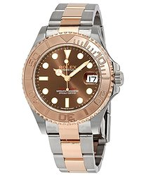 Rolex Yacht-Master Chocolate Dial Steel and 18K Everose Mid-size Oyster Watch