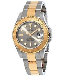 Rolex Yacht-Master Grey Dial Stainless Steel and 18K Yellow Gold Oyster Bracelet Automatic Men's Watch GYSO