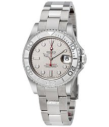 Rolex Yacht-Master Platinum Dial Stainless Steel Automatic Midsize Watch PLSO