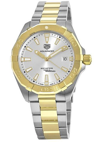 Купить часы TAG Heuer Aquaracer 300M 41MM Yellow Gold and Stainless Steel Men's Watch WBD1120.BB0930  в ломбарде швейцарских часов