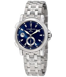 Ulysse Nardin Big Date Blue Dial Automatic Men's GMT Steel Watch