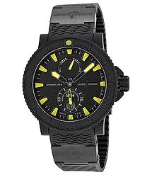 Ulysse Nardin Black Sea Black and Yellow Dial Black Rubber Men's Watch