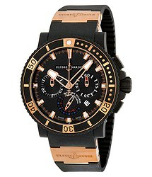 Ulysse Nardin Black Sea Chronograph 18K Rose Gold Automatic Men's Watch