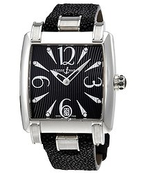 Ulysse Nardin Caprice Automatic Black Dial Black Leather Ladies Watch 133-91-06-02