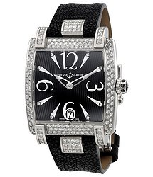 Ulysse Nardin Caprice Black Dial Stingray Strap Automatic Ladies Watch