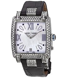Ulysse Nardin Caprice Silver Dial Automatic Ladies Black Crocodile Leather Watch