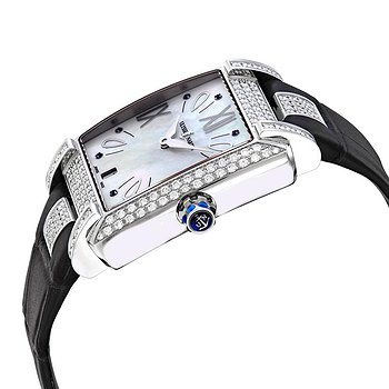 Купить часы Ulysse Nardin Caprice Silver Dial Automatic Ladies Black Crocodile Leather Watch  в ломбарде швейцарских часов