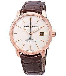 Ulysse Nardin Classic Classico Eggshell Dial Automatic Men's 18kt Rose Gold Watch