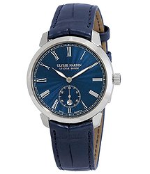 Ulysse Nardin Classico Blue Dial Automatic Men's Leather Watch