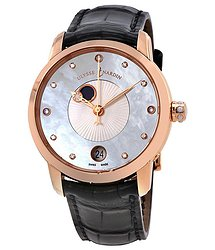 Ulysse Nardin Classico Lady Luna Mother of Pearl Dial Alligator Leather Automatic Ladies Watch