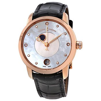 Купить часы Ulysse Nardin Classico Lady Luna Mother of Pearl Dial Alligator Leather Automatic Ladies Watch  в ломбарде швейцарских часов