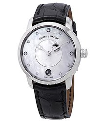 Ulysse Nardin Classico Luna Automatic Diamond White Mother of Pearl Dial Ladies Watch