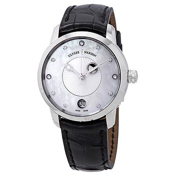 Купить часы Ulysse Nardin Classico Luna Automatic Diamond White Mother of Pearl Dial Ladies Watch  в ломбарде швейцарских часов