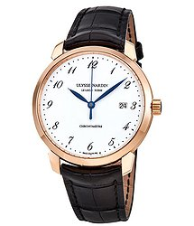 Ulysse Nardin Classico White Enamel Dial 18K Rose Gold Automatic Men's Watch