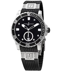 Ulysse Nardin Diver Black Diamond Dial Automatic Ladies Watch