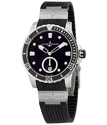 Ulysse Nardin Diver Black Diamond Dial Ladies Watch