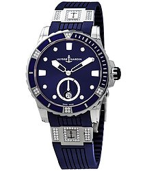 Ulysse Nardin Diver Blue Diamond Dial Automatic Ladies Watch