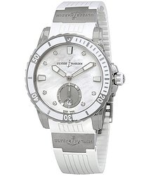 Ulysse Nardin Diver Mother Of Pearl Diamond Dial Automatic Ladies Watch