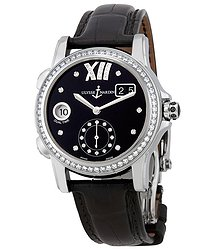 Ulysse Nardin Dual Time Black Dial Diamond Automatic Ladies Watch 3343-222B-30-02