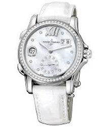 Ulysse Nardin Dual Time Mother of Pearl Dial Diamond Automatic Ladies Watch 3343-222B-391