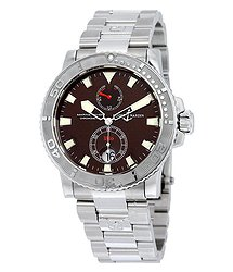 Ulysse Nardin e Maxi Marine Diver Burgundy Dial Stainless Steel Men's Watch 263-33-7-95