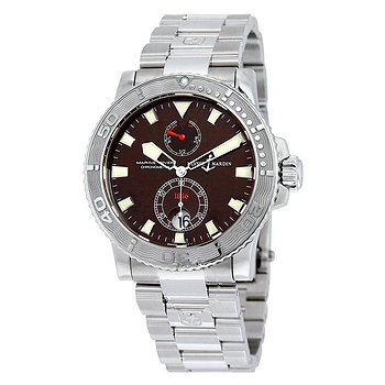 Купить часы Ulysse Nardin e Maxi Marine Diver Burgundy Dial Stainless Steel Men's Watch 263-33-7-95  в ломбарде швейцарских часов