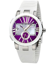 Ulysse Nardin Executive Dual Purple Dial Ladies GMT Watch