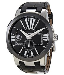 Ulysse Nardin Executive Dual Time Automatic Black Leather Men's Watch