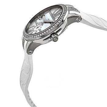Купить часы Ulysse Nardin Executive Dual Time Automatic White Mother Of Pearl Diamond Dial Ladies Rubber Watch  в ломбарде швейцарских часов