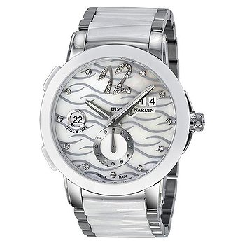 Купить часы Ulysse Nardin Executive Dual Time Diamond Mother of Pearl Ceramic Ladies Watch  в ломбарде швейцарских часов