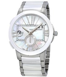 Ulysse Nardin Executive Dual Time Mother Of Pearl Dial Ladies GMT Watch