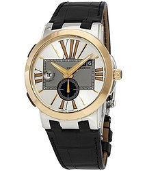 Ulysse Nardin Executive Dual Time Silver Dial Automatic Men's Leather Watch