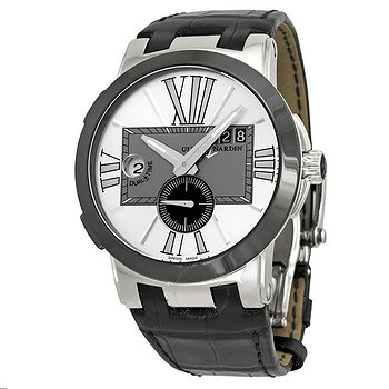Купить часы Ulysse Nardin Executive Dual Time Silver Dial Black Leather Automatic Men's Watch  в ломбарде швейцарских часов