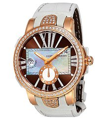 Ulysse Nardin Executive Lady 18K Rose Gold Diamond Automatic Watch 246-10B-30-05