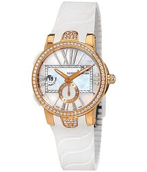 Ulysse Nardin Executive Lady Mother of Pearl Diamond 18K Rose Gold Automatic Watch 246-10B-3C-391