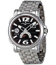 Ulysse Nardin GMT Big Date Black Dial Automatic Men's Watch 243-55-7-62